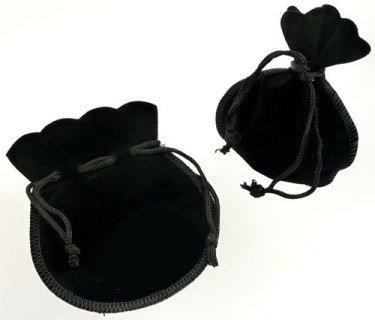 stoffen cadeautasje zwart 105x90 mm