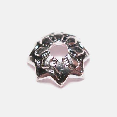 kralenkapje zilver 4 mm