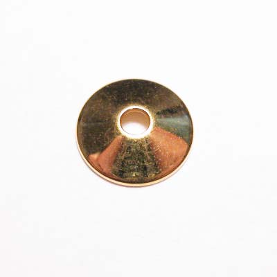 plat kapje goud 8 mm