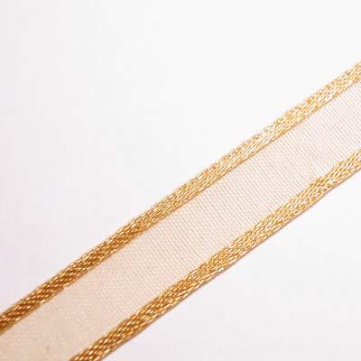 organza lint 10 mm goudbruin