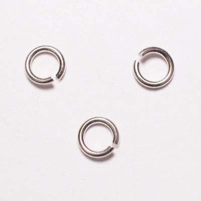 ring rond zilver 5 mm, 1 mm dik