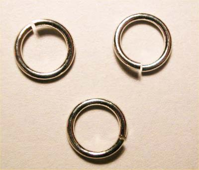 ring rond zilver 6 mm, 1 mm dik