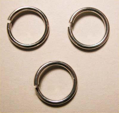 ring rond zilver 10 mm, 1,2 mm dik