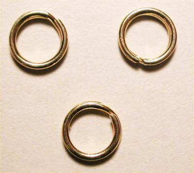 splijtring goud 6 mm