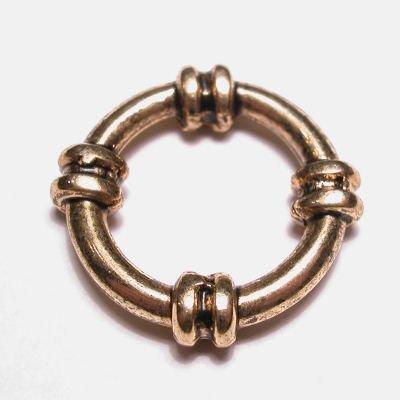 ring metaal sier oud goud 19 mm