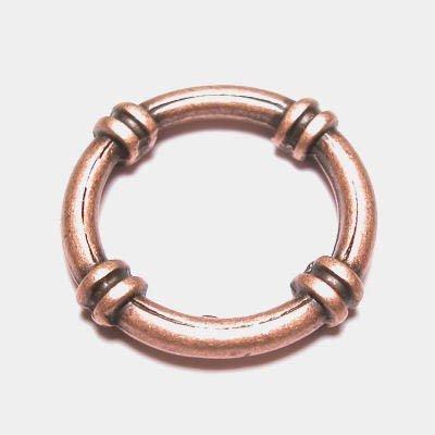 ring metaal sier brons 25 mm