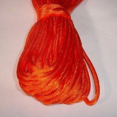 Satijnkoord, 2 mm, oranje