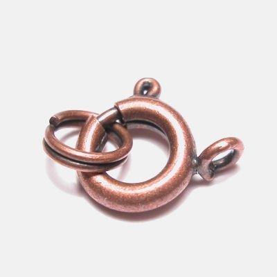 veersluiting met ring brons 7 mm