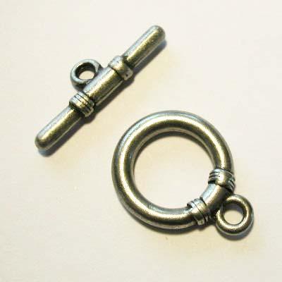 kapittelslot mat antiekzilver 22 mm