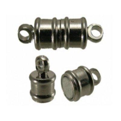 magneetsluiting tonnetje zilver 6 x 17 mm