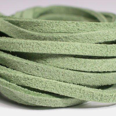 veter kunstsuede olijfgroen 3 mm