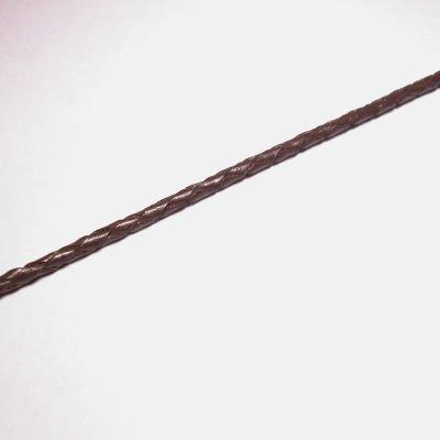 gevlochten leren veter 3mm bruin