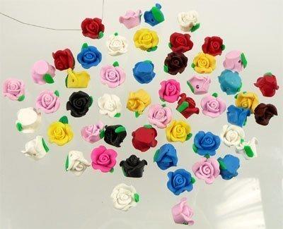 mix fimoklei roosjes multicolor 13 x 10 mm