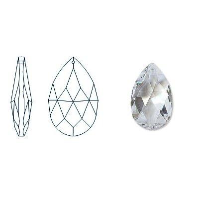 kristal hanger pearshape 38x22 crystal