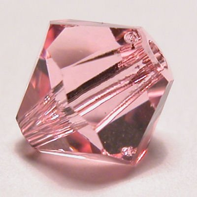 swarovski facet 4mm light rose