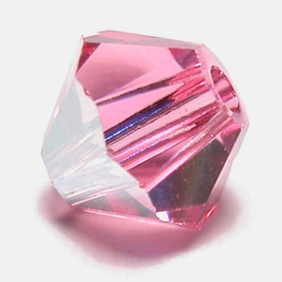 swarovski facet 4mm rose AB