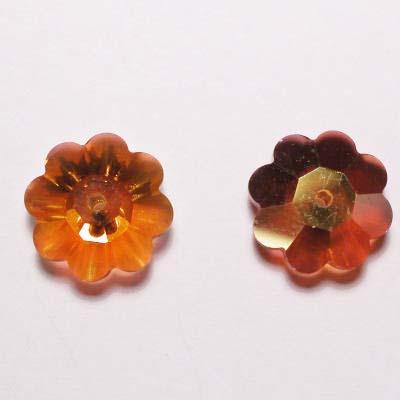 swarovski schijf bloem topaz 10 mm