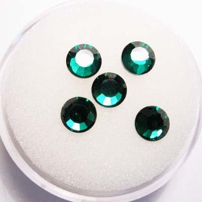 swarovski plaksteen rond emerald 6 mm