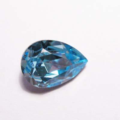 similisteen druppel aquamarijnblauw 10x7 mm
