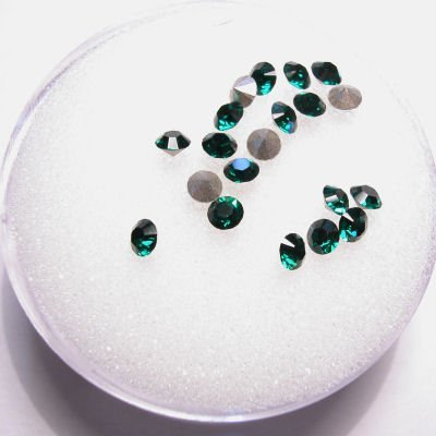 swarovski similisteen rond emerald 3 mm