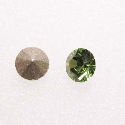 swarovski similisteen rond peridot 4 mm