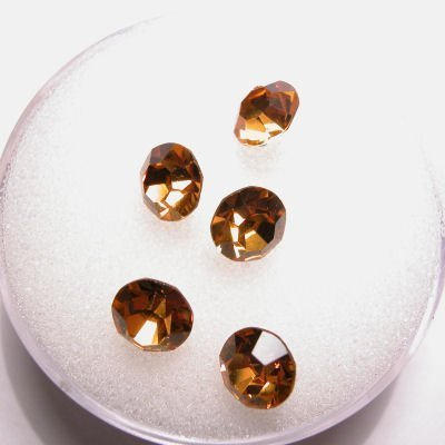 swarovski similisteen rond topaz 6 mm