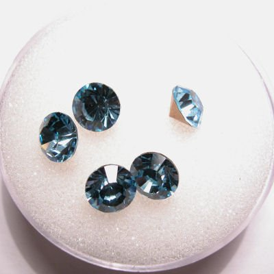 swarovski similisteen rond aquamarine6 mm
