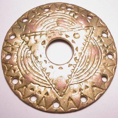 ethnic cirkel 13-oog mat goud 56 mm