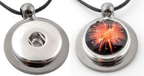 Easy button metalen hanger antraciet/zilver