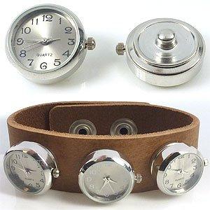 Easy button met klokje zilver