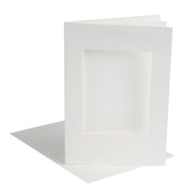 kaart met vierkant passepartout off-white