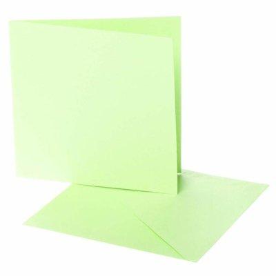 kaart vierkant l.groen 12,5x12,5 cm