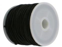 elastisch draad/stiek 1 mm zwart