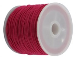 elastisch draad/stiek 1 mm donker roze