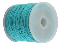 elastisch draad/stiek 1 mm aqua blauw