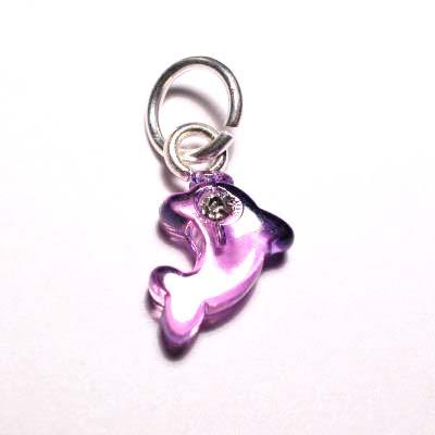 acryl dolfijntje lila paars 7,5x9 mm