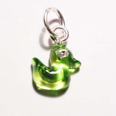 acryl eendje groen 8x9 mm
