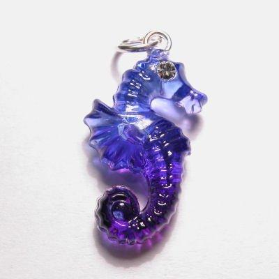 acryl zeepaardje paars lila 15x22 mm