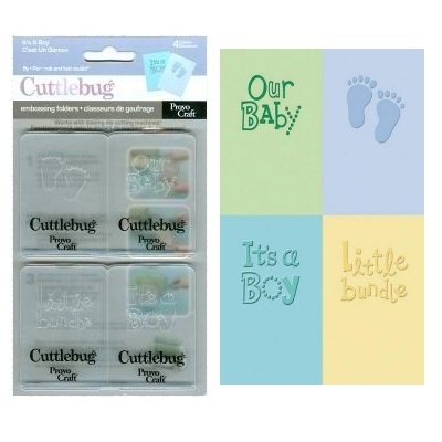 "Embossing set ""it's a boy"""