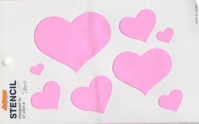 sjabloon dun 13x21 cm love