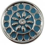 Easy button licht blauw