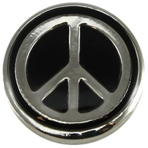 Easy button peace2 zwart