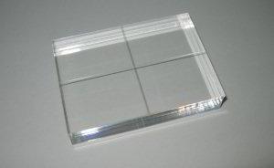 Acryl stempel bloc 76 x 100 mm