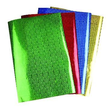 Papier holografisch groen met spiraal A4