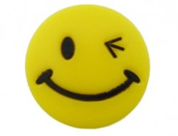 Kunststof cabochon smiley 23mm