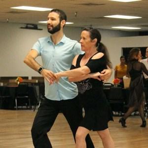 Kralev Dance student practicing ballroom lessons