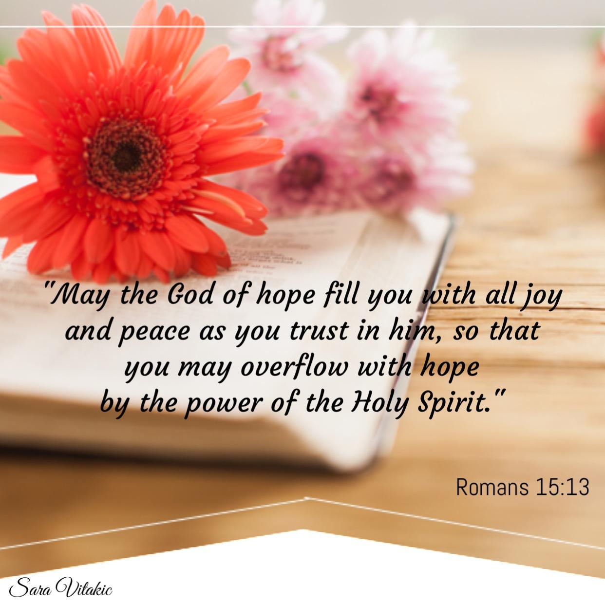 Overflowing Hope