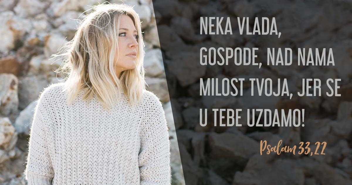 Neću se plašiti – Bog mi je zaklon i utvrda!