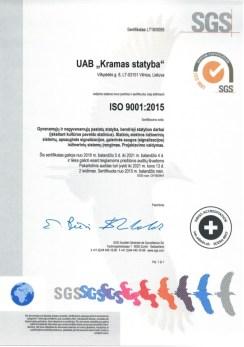 Kramas statyba certificate 9001_2018_002