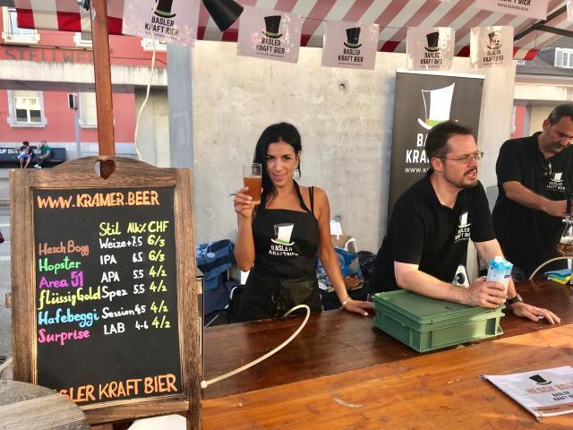 Unser Stand am Basler Biermarkt